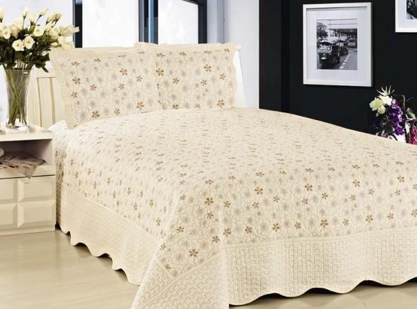 """Стеганое покрывало на кровать с наволочками Patchwork Lux Cotton """"Нежность"""""""
