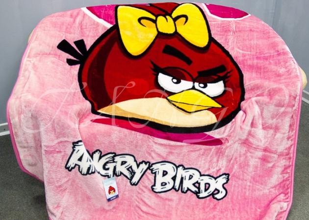 """Плед детский акриловый Angry Birds """"Энгри Бердс"""", розовый pld3004-01"""