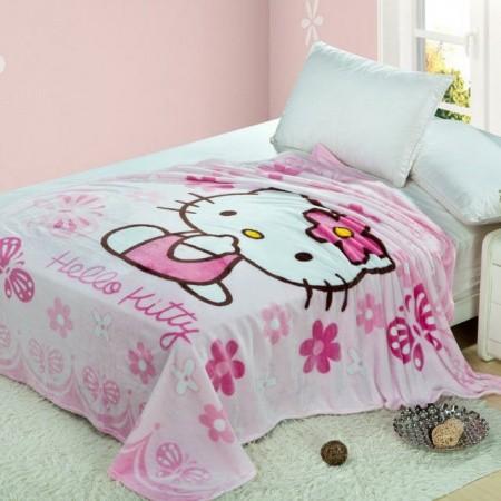 "Плед детский Hello Kitti ""Китти"" розовый pld025-1"