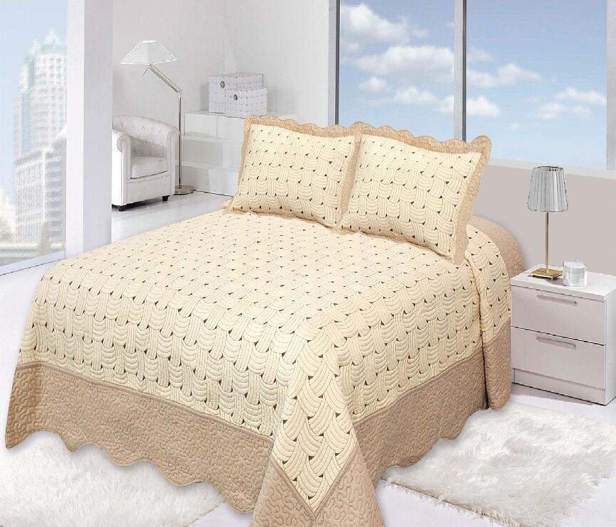 """Стеганое покрывало на кровать с наволочками Patchwork Lux Cotton """"Марсель"""""""