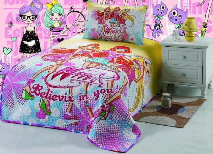 """Детское покрывало на кровать для девочки Winx """"Винкс"""" pkd070"""
