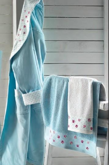 Женский халат ATTACCO Turquoise, бирюзовый