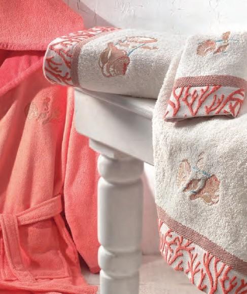Женский махровый халат SICURO CREAM, кремовый