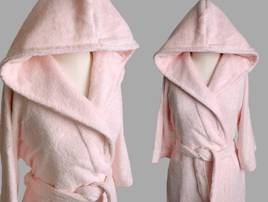 """Женский махровый халат с капюшоном Irya """"CLASSY G. Kuruzu, малиновый"""""""
