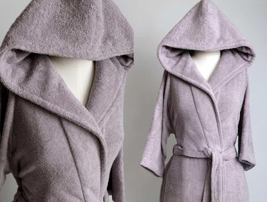 """Женский махровый халат с капюшоном Irya """"CLASSY Violet, фиолетовый"""""""